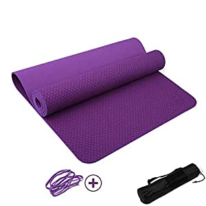 Amazon.com: DHG Yoga mat, yoga mat green thickening ...