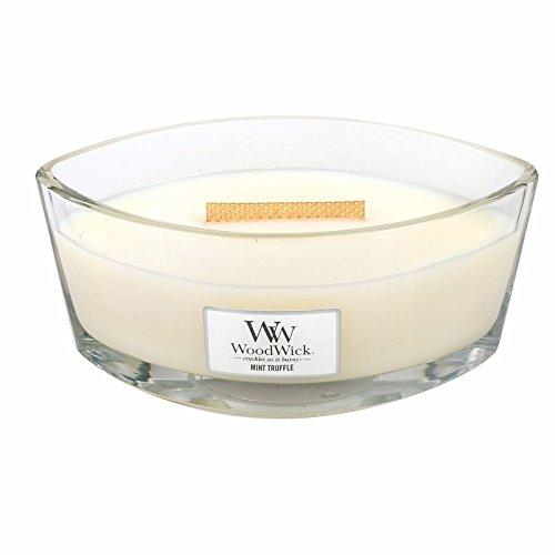 Woodwick 76082 Bougie, Verre, Blanc, 11,4 x 19,2 x 8,8 cm