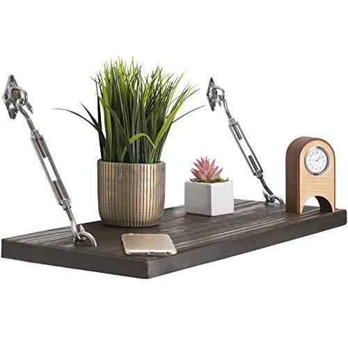 Modern Floating Rustic Wood Shelf 24