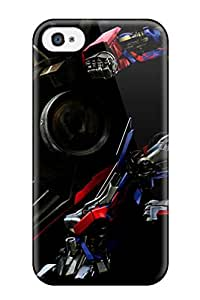 Rugged Skin Case Cover For Iphone 4/4s- Eco-friendly Packaging(optimus Prime) 4362695K75388811