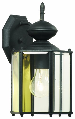 Thomas Lighting SL92427 Brentwood Collection 1 Light Outdoor Wall Sconce, Matte Black - Collection Thomas Lighting