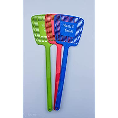 Fly Swatter Manual Swat Pest Control By Wonky Hill Set of 3 Swatters In Value 3 Pack