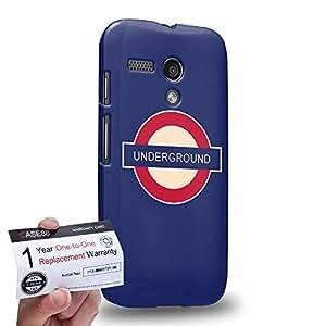 Case88 [Motorola Moto G (1st Gen)] 3D impresa Carcasa/Funda dura para & Tarjeta de garantía - Art London Cityscape London Underground