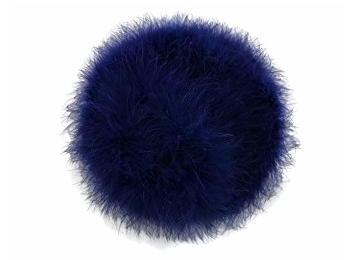 Moonlight Feather   2 Yards - Navy Blue Turkey Medium Weight Marabou Feather Boa, 25 grams for Halloween, Costume, Party and -