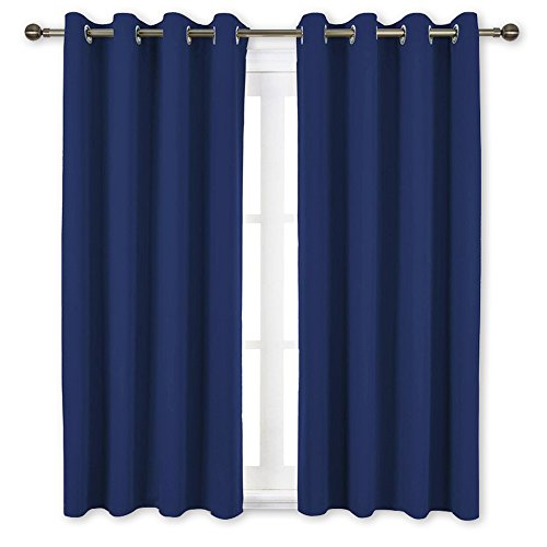 NICETOWN Blackout Window Curtains and Drapes - Thermal Insulated Solid Grommet Top Blackout...