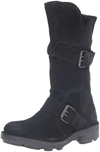 Fly London Naio898fly - Botas Estilo Motero Mujer Negro (Black 000)