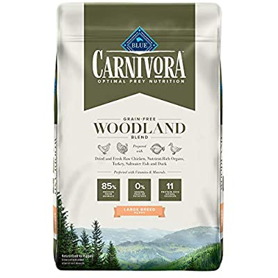 Blue Buffalo Blue Carnivora Woodland Blend Optimal Prey Nutrition High Protein, Grain Free Puppy Large Breed Dry Food