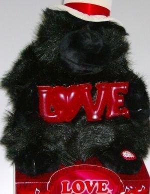 Love Monkey Big Gorillia Stuffed Animal Plush Ape with Love Sign & Song by Dan Dee