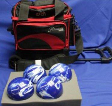 BSIローラーボーリングボールバッグ – 4ボール – ブラック&レッド