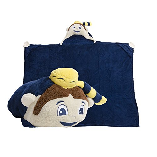 Comfy Critters Stuffed Animal Blanket – College Mascot, West Virginia University 'Mountaineer' – Kids huggable pillow and blanket perfect for the big game, tailgating, travel, and much (West Virginia Mountaineers Baby Blanket)