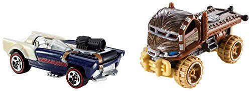 Hot Wheels Star Wars Chewbacca and Han Solo Character Car 2-