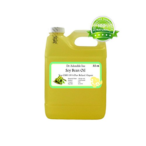 Soybean OIL Pure SOY OIL Cold Pressed Organic 32 Oz / 1 Quart