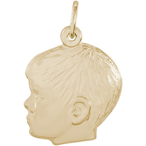 - Rembrandt Charms Two Tone Sterling Silver Boy Charm (17.5 x 18 mm)