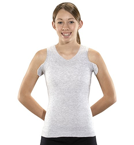 KNIT-RITE Torso Interface V-Neck Tank with Axilla Flaps - X-Static (Grey, Small Regular)