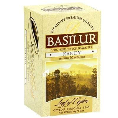 BASILUR TEA '' LEAF OF CEYLON'' BLACK TEA KANDY 20TB (PACK OF 12) (Ceylon Kandy Black Tea)