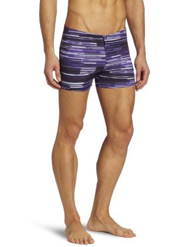 Speedo Men's Linear Motion Square Leg Swimsuit