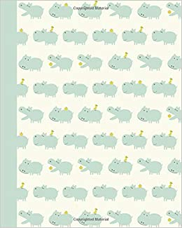sketchbook baby hippos green 8x10 blank journal with no lines