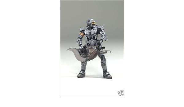 HALO 3 Series 4 Security Spartan Soldier Steel//Gray 4-Pieces GameStop Exclusive