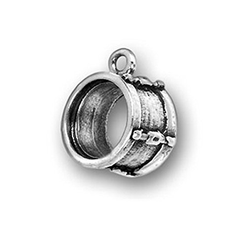 Sterling Silver Drum Charm Item #224 3D Musical Instrument Charm