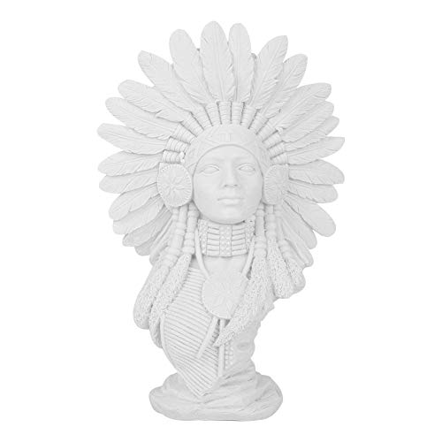 Sandstone Resin Craft American Indian Woman Sculpture Statue for Home Decoration