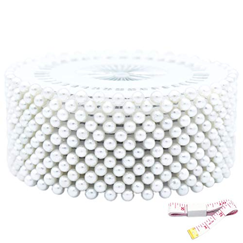 Review Of Firefly 480 Pcs White Color Straight Pins 1.5 Pearlized Ball Head for Sewing Quilting and...