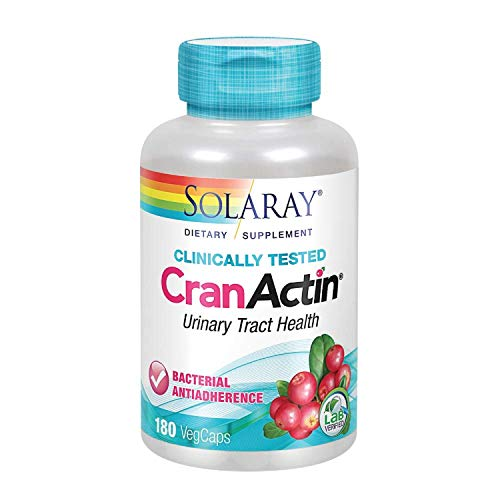 Solaray Cranactin Cranberry AF Extract Capsules, 400 mg, 180 Count ()