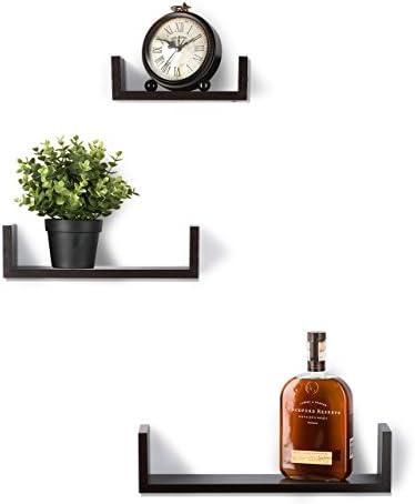 home, kitchen, home décor, home décor accents,  floating shelves 6 picture Floating Shelves Set of 3 Wall Shelves - Espresso deals