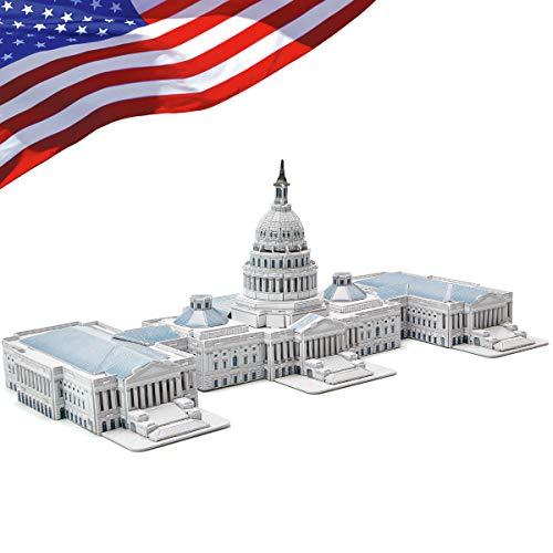 CubicFun 3D Puzzles for Adults Kids the U.S. Capitol Architectures 132 Pieces