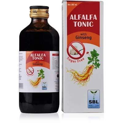 Buy SBL'S ALFALFA TONIC with Ginseng (Sugar Free) 180ml (PACK of 2