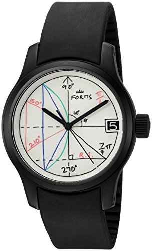 Fortis Men's 655.18.92 K 2pi designed by Rolf Sachs Analog Display Automatic Self Wind Black Watch