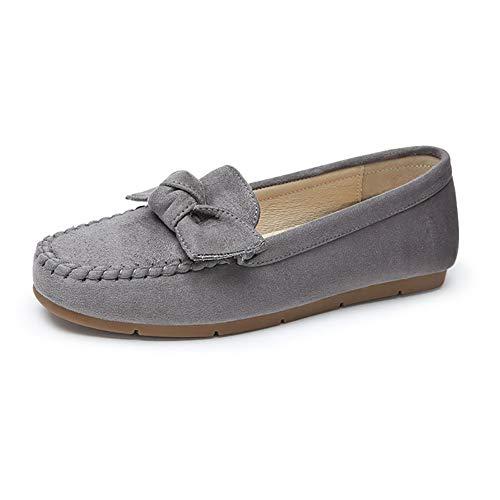 Peas Single Morbide Donna Opzionale Shoes Pigro Scarpe Autunno Bow Tallone Gray Bottom Da Social Maternity Colore xIAwqpB