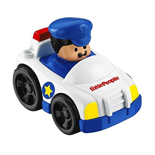 Little People Wheelies Police Car with Policeman