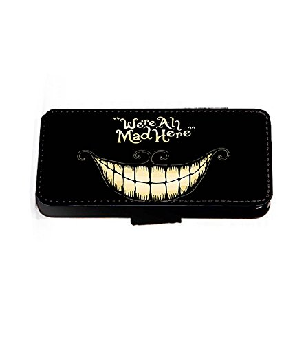 We're All Mad Here-Alice im Wunderland-Mad Hatter Kunstleder wallet Handy Tasche case Hülle cover für Samsung Galaxy S6 Edge