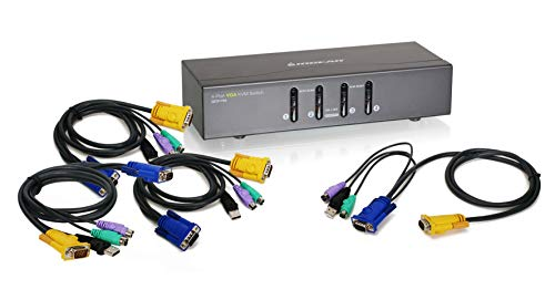 (IOGEAR 4 Port VGA KVM PS2 Switch and USB, w/Full Set of Cables (GCS1724))