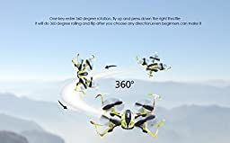 Virhuck T915 Mini Toy RC Drone for Kids 2.4 GHz 4 CH 6 AXIS GYRO System LED Lights Headless / Inverted Flight / One Key Return Mode Quadcopter Camouflage (Green)