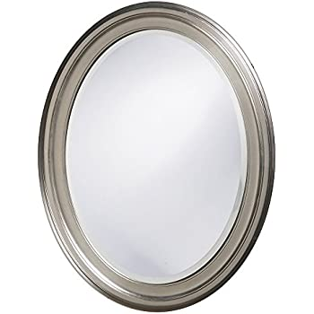 Howard Elliott 40109 George Oval Mirror, Brushed Nickel