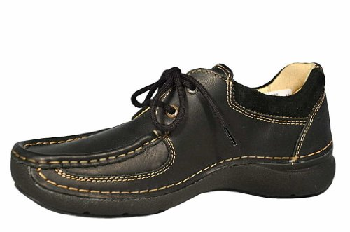 Leather 50000 Confort Chaussures Black Wolky Chaussure Lacets À 07213 nbsp;rolling 0Z4zqd