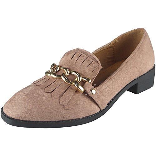 acd1d456efbe 30%OFF Nouvelles femmes Faux Suède Faible Talon Flâneurs Chaussures Taille  36-41