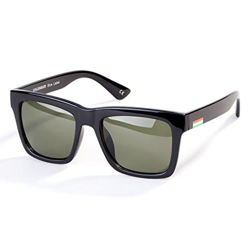 Vintage Polarized Sunglasses for Men Square Frame UV400 Mirrored Lens Glasses Fit for ourdoors