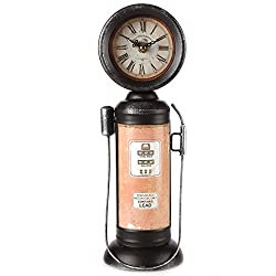 Lily's Home Old Fashioned Gas Pump Mantle Clock 14 Inch