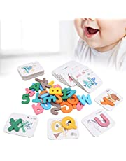 Kids Smooth Wooden Comes with a Storage Box, Preschool Learning Toys, Alphabet Toy, Practical Color Recognition for Kids over 3 Years Old(default)