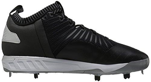 adidas Performance Herren Boost Icon 3 Baseballschuh Schwarz / Weiß / Metallic Silber