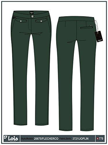 LOIS - Pantalon Flecherco Joplin, Mujer, Color Verde, Talla 32