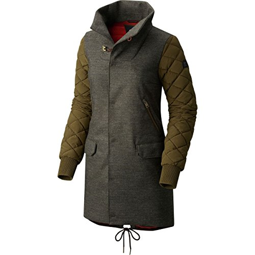 Sorel Conquest Carly Wool Down Coat - Women's Olive Green Heather, S