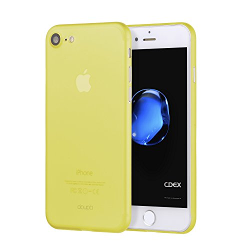 (doupi UltraSlim Case for iPhone 8/7 (4.7 inch) Fine Matte Feather Light Skin Protective Cover - Yellow)