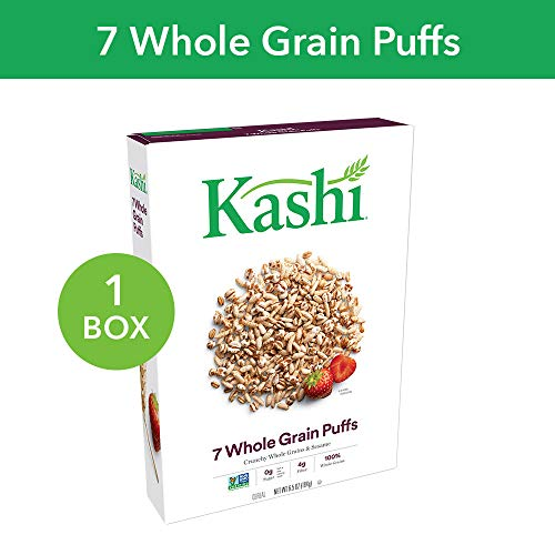 - Kashi, Breakfast Cereal, 7 Whole Grain Puffs, Non-GMO Project Verified, 6.5 oz