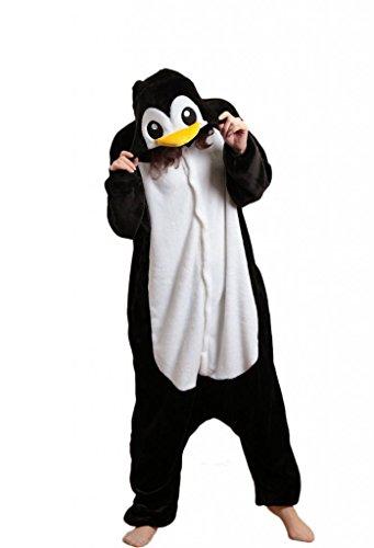 QinYing Cartoon Sleepsuit Adult Anime Pajamas Penguin Cosplay Costumes M