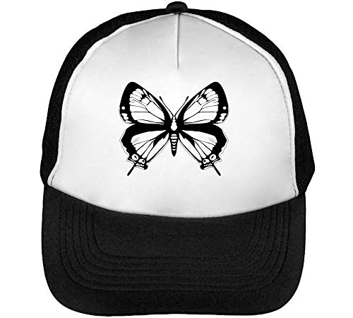 Negro Gorras Hombre Butterfly Snapback Beisbol Blanco dvfxqwICx