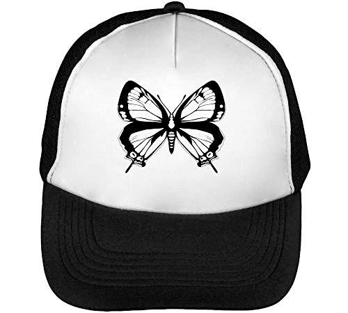 Butterfly Gorras Hombre Snapback Beisbol Negro Blanco