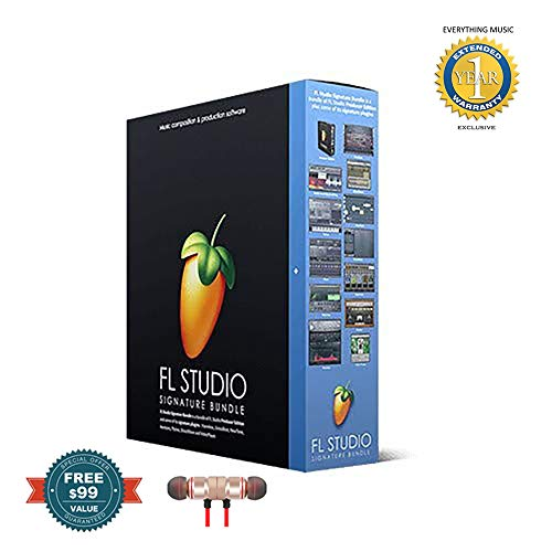 Price comparison product image FL Studio 20 Image Line Signature Bundle (Boxed) includes Free Wireless Earbuds - Stereo Bluetooth In-ear and 1 Year Everything Music Extended Warranty